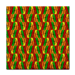 Colorful Wooden Background Pattern Face Towel