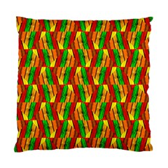 Colorful Wooden Background Pattern Standard Cushion Case (Two Sides)