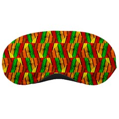 Colorful Wooden Background Pattern Sleeping Masks