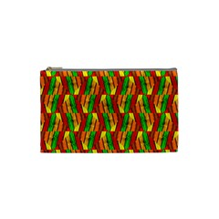 Colorful Wooden Background Pattern Cosmetic Bag (Small)