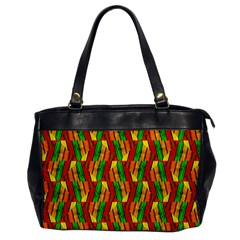Colorful Wooden Background Pattern Office Handbags