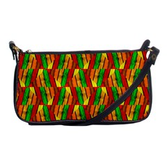 Colorful Wooden Background Pattern Shoulder Clutch Bags