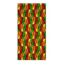 Colorful Wooden Background Pattern Shower Curtain 36  X 72  (stall)