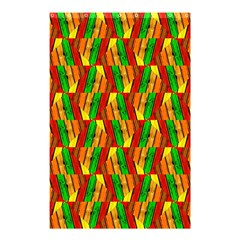 Colorful Wooden Background Pattern Shower Curtain 48  x 72  (Small)