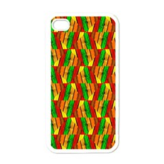 Colorful Wooden Background Pattern Apple iPhone 4 Case (White)