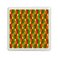 Colorful Wooden Background Pattern Memory Card Reader (Square)