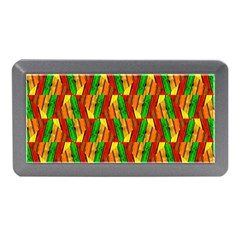 Colorful Wooden Background Pattern Memory Card Reader (mini)