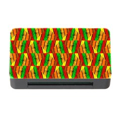 Colorful Wooden Background Pattern Memory Card Reader with CF