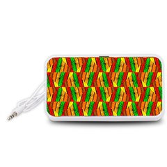 Colorful Wooden Background Pattern Portable Speaker (White)