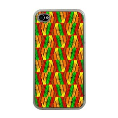Colorful Wooden Background Pattern Apple Iphone 4 Case (clear)