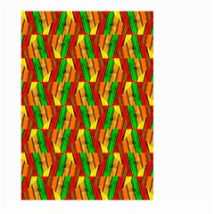 Colorful Wooden Background Pattern Large Garden Flag (two Sides)