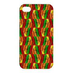 Colorful Wooden Background Pattern Apple Iphone 4/4s Premium Hardshell Case