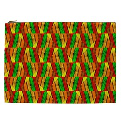 Colorful Wooden Background Pattern Cosmetic Bag (XXL)