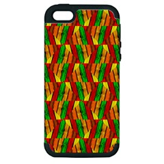 Colorful Wooden Background Pattern Apple Iphone 5 Hardshell Case (pc+silicone)