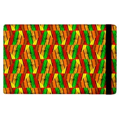 Colorful Wooden Background Pattern Apple iPad 2 Flip Case