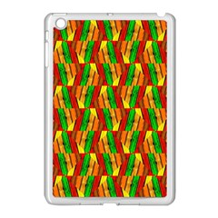 Colorful Wooden Background Pattern Apple iPad Mini Case (White)