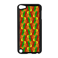 Colorful Wooden Background Pattern Apple Ipod Touch 5 Case (black)