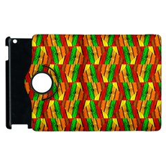 Colorful Wooden Background Pattern Apple iPad 2 Flip 360 Case