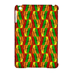 Colorful Wooden Background Pattern Apple iPad Mini Hardshell Case (Compatible with Smart Cover)