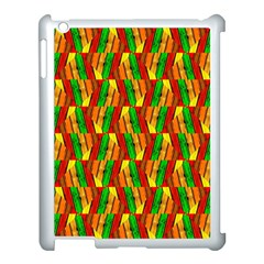 Colorful Wooden Background Pattern Apple Ipad 3/4 Case (white)