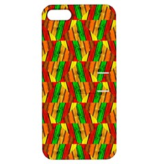 Colorful Wooden Background Pattern Apple Iphone 5 Hardshell Case With Stand