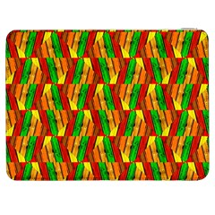 Colorful Wooden Background Pattern Samsung Galaxy Tab 7  P1000 Flip Case