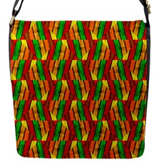 Colorful Wooden Background Pattern Flap Messenger Bag (s)