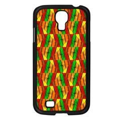 Colorful Wooden Background Pattern Samsung Galaxy S4 I9500/ I9505 Case (black)