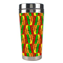 Colorful Wooden Background Pattern Stainless Steel Travel Tumblers