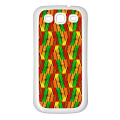 Colorful Wooden Background Pattern Samsung Galaxy S3 Back Case (White)
