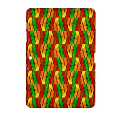 Colorful Wooden Background Pattern Samsung Galaxy Tab 2 (10 1 ) P5100 Hardshell Case