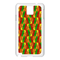Colorful Wooden Background Pattern Samsung Galaxy Note 3 N9005 Case (white)