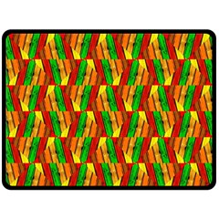 Colorful Wooden Background Pattern Double Sided Fleece Blanket (Large)