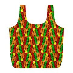 Colorful Wooden Background Pattern Full Print Recycle Bags (l)