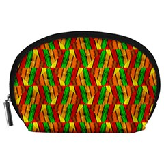 Colorful Wooden Background Pattern Accessory Pouches (Large)