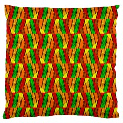 Colorful Wooden Background Pattern Standard Flano Cushion Case (one Side)