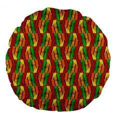 Colorful Wooden Background Pattern Large 18  Premium Flano Round Cushions