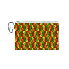 Colorful Wooden Background Pattern Canvas Cosmetic Bag (s)