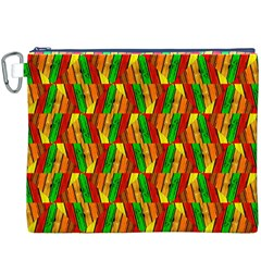 Colorful Wooden Background Pattern Canvas Cosmetic Bag (XXXL)