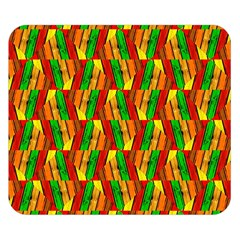Colorful Wooden Background Pattern Double Sided Flano Blanket (Small)