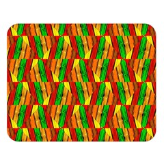 Colorful Wooden Background Pattern Double Sided Flano Blanket (Large)