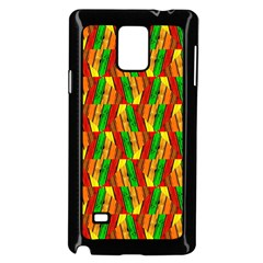 Colorful Wooden Background Pattern Samsung Galaxy Note 4 Case (Black)