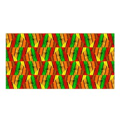 Colorful Wooden Background Pattern Satin Shawl