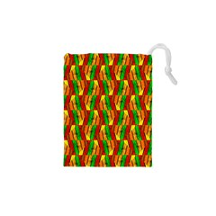 Colorful Wooden Background Pattern Drawstring Pouches (XS)