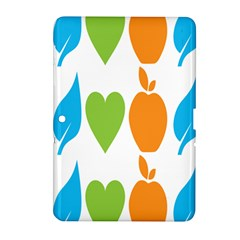 Fruit Apple Orange Green Blue Samsung Galaxy Tab 2 (10 1 ) P5100 Hardshell Case
