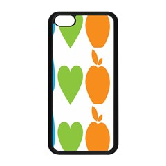 Fruit Apple Orange Green Blue Apple iPhone 5C Seamless Case (Black)