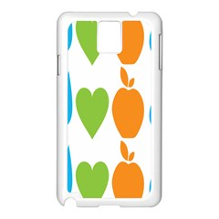 Fruit Apple Orange Green Blue Samsung Galaxy Note 3 N9005 Case (White)