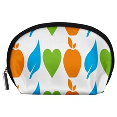 Fruit Apple Orange Green Blue Accessory Pouches (Large)