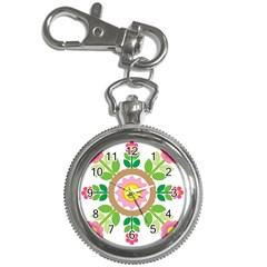 Flower Floral Sunflower Sakura Star Leaf Key Chain Watches