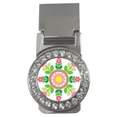 Flower Floral Sunflower Sakura Star Leaf Money Clips (CZ)
